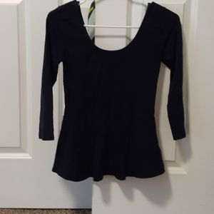 Navy blue long sleeve Express shirt